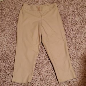 Like new, khaki ankle length pants